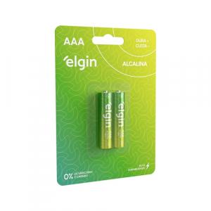 PILHA ALCALINA AAA BLIST COM 2 - ELGIN