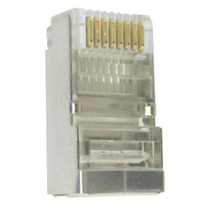 CONECTOR MACHO RJ45 CAT5E BLINDADO P/ CABO PMC