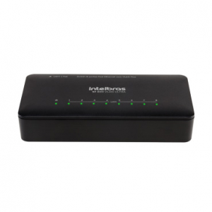 SWITCH 08P 10/100 VLAN FIXA ANTI SURTO SF800 ULTRA INTELBRAS