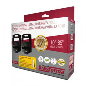 SUPORTE TV P/ LCD 10 A 85 ULTRA SLIM PRETO BRASFORMA