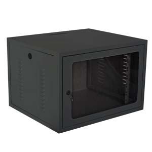 RACK MINI 19 06U X 450MM P/ PAREDE PRETO (GI)