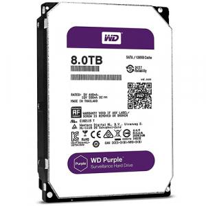 HDD DRIVE WD80PURZ 8TB SATA 3 5400RPM 64MB PURPLE INTELBRAS