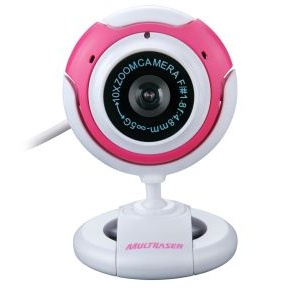 WEBCAM NEW VISION COM MIRCROFONE 16MP ROSA MULTILASER