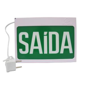 PLACA DE SAÍDA AUT NEW SLIM SF-SAIDA S/SETA VERDE