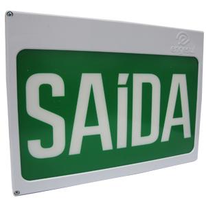 PLACA DE SAÍDA AUT NEW SLIM DF-SAIDA S/SETA VERDE