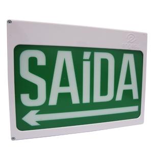 PLACA DE SAÍDA CENT NEW SLIM DF SAÍDA C/SETA VERDE