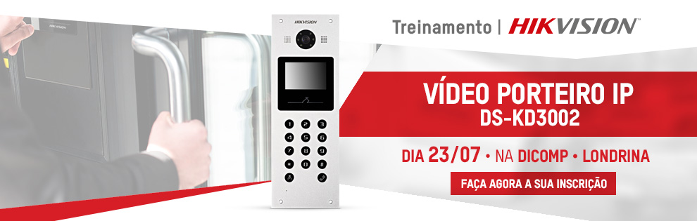 Treinamento Video Porteiro IP DS-KD3002 - Door com tela interna - LONDRINA