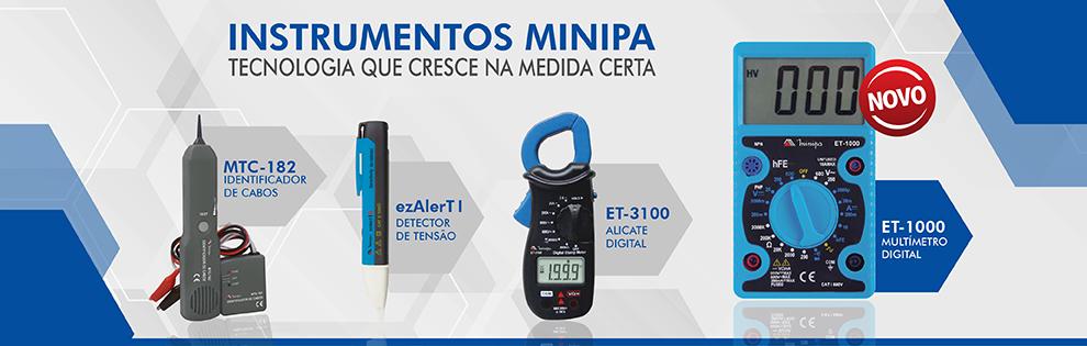 Confira na Dicomp os instrumentos Minipa