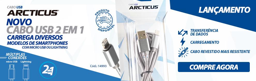 Novo Cabo USB Arcticus, maior agilidade com múltiplas conexões